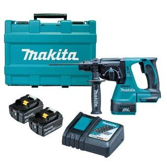 Makita 18V Brushless 24mm SDS Plus Rotary Hammer Kit DHR242RTE