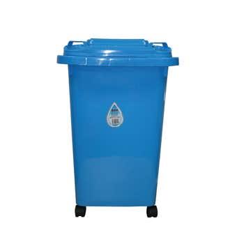 Queen Wheelie Bin Plastic Blue 60L