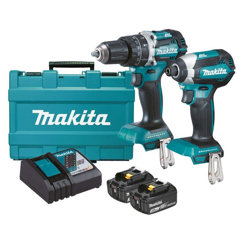 Makita 18V 3.0Ah Brushless Combo Kit - 2 Piece DLX2180X