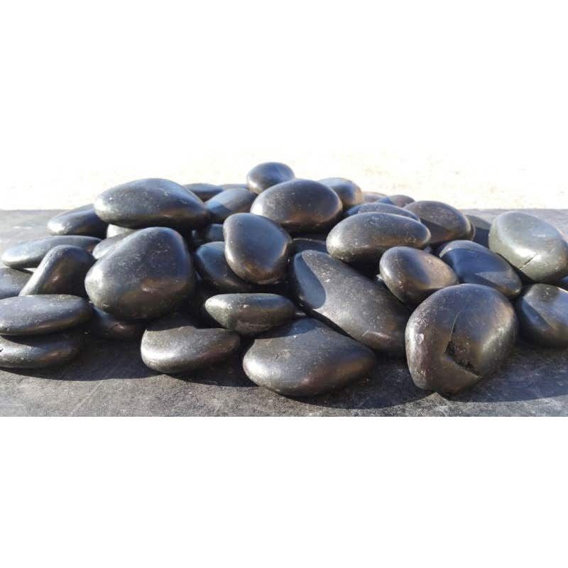 Landscaping Pebbles Polished Black 20kg
