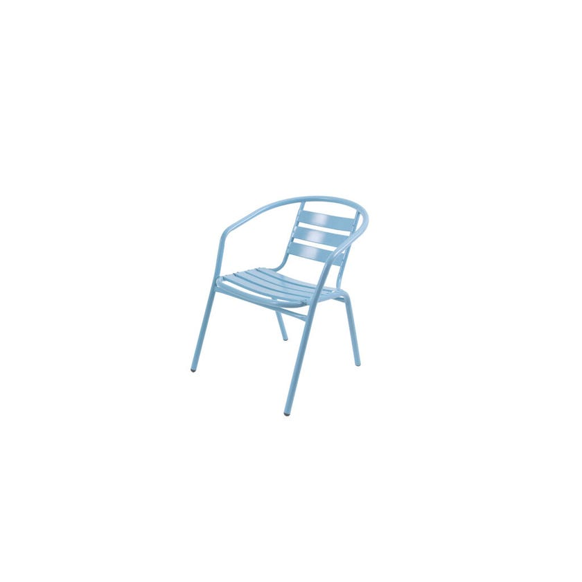 Cancun Steel Cafe Chair Blue