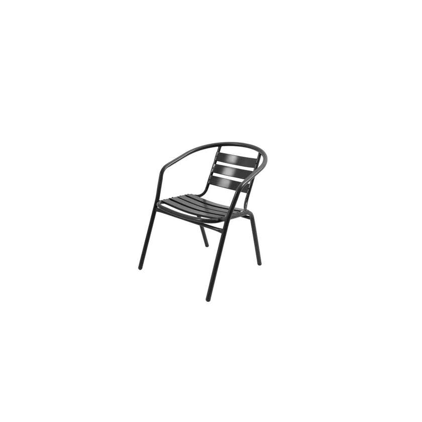 Cancun Steel Cafe Chair Black