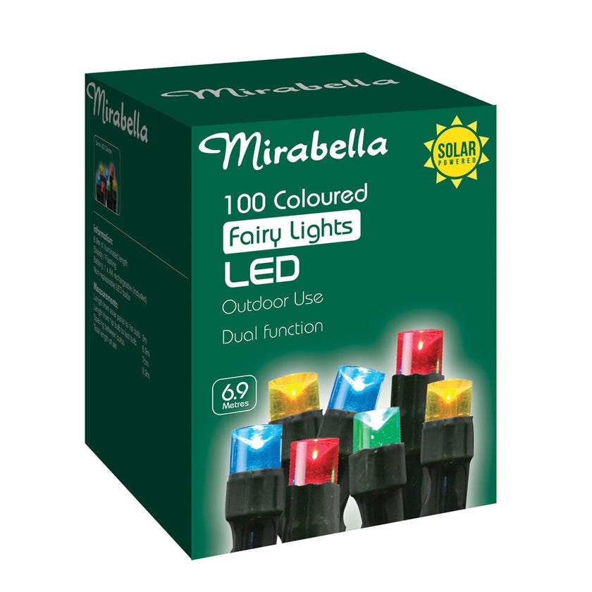 Mirabella Christmas Fairy Light LED Solar Multi Colour 100 Pack