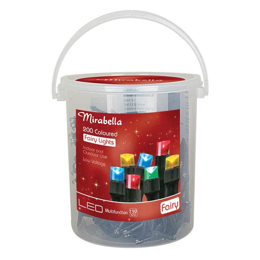 Mirabella Christmas Fairy Light LED Multi Colour 200 Pack