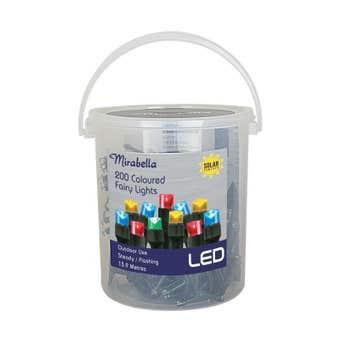 Mirabella Christmas Fairy Lights Solar LED Multi Colour 200 Pack