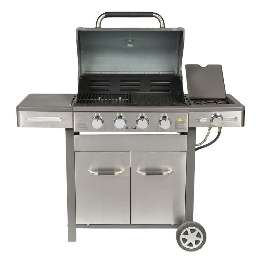 Grilled Stainless Steel 4 Burner BBQ