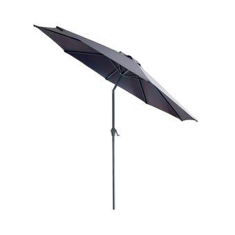 Market Aluminium Umbrella Charcoal 2.95m