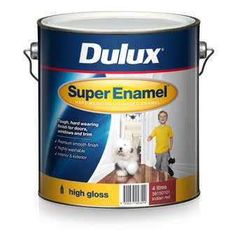 Dulux Super Enamel High Gloss Indian Red 4L