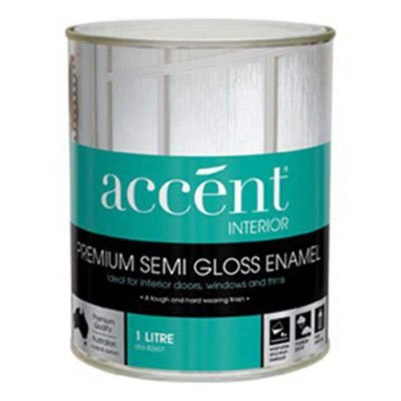 Accent Doors, Windows & Trims Oil Based Semi Gloss White 1L