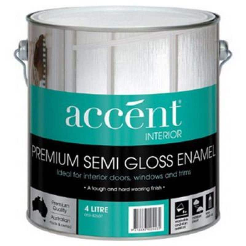 Accent Doors, Windows & Trims Oil Based Semi Gloss White 4L