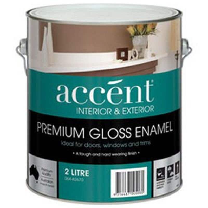 Accent Doors, Windows & Trims Oil Based Gloss White 2L