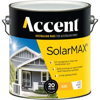 Accent SolarMAX Exterior Gloss White 4L
