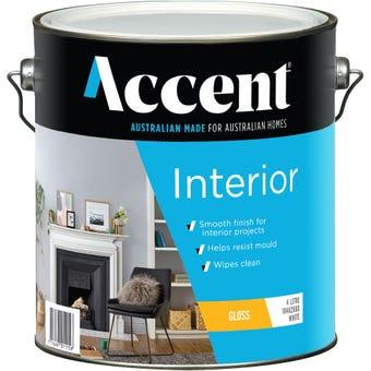 Accent® Acrylic Interior Gloss White 4L