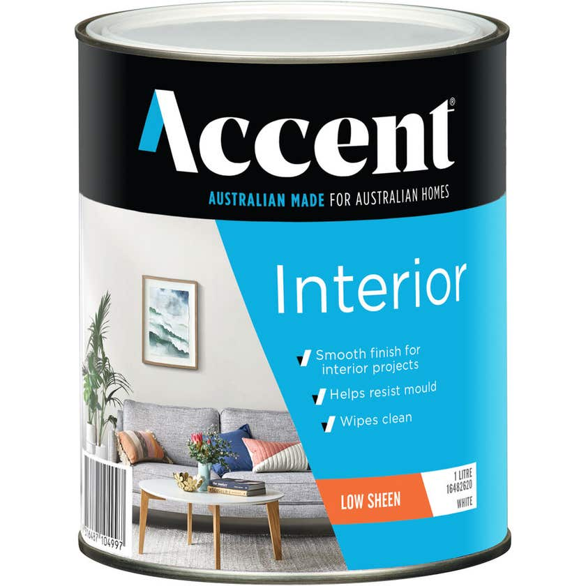 Accent Interior Low Sheen White 1L