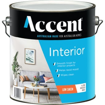 Accent® Interior Low Sheen White 4L