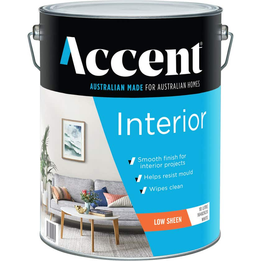 Accent Interior Low Sheen White 10L