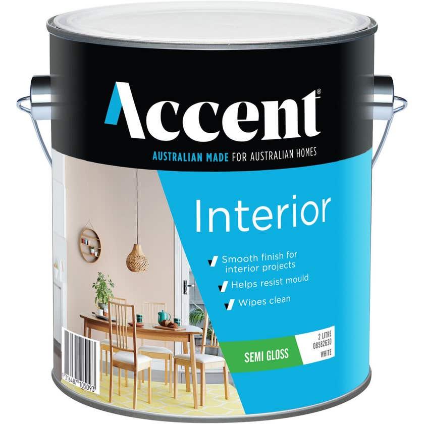 Accent Interior Semi Gloss White 2L