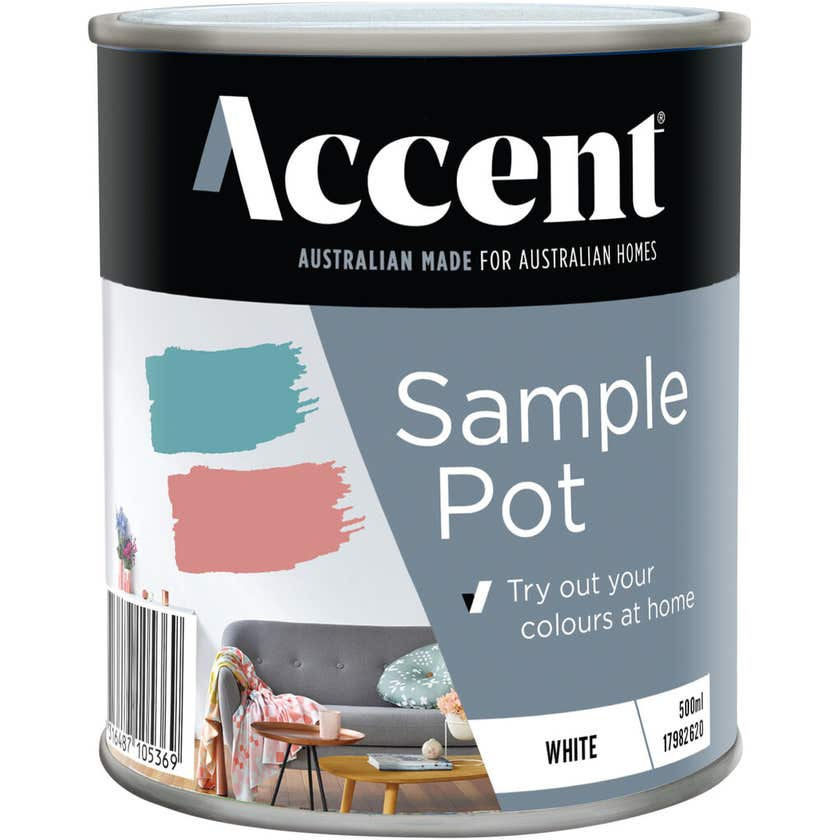 Accent® Sample Pot Low Sheen White 500ml