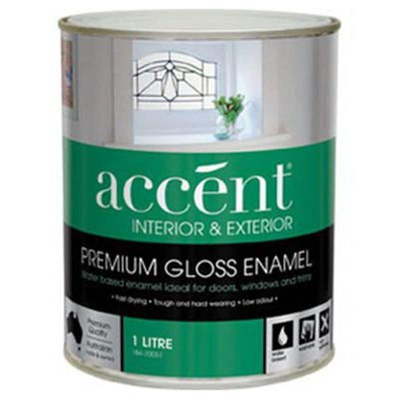 Accent Doors, Windows & Trims Water Based Gloss White 1L