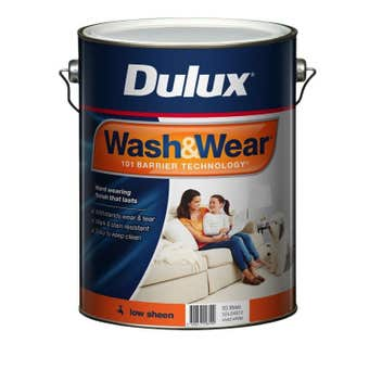 Dulux Wash & Wear Interior Low Sheen Vivid White 10L