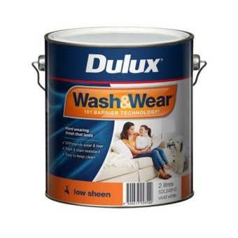Dulux Wash & Wear Interior Low Sheen Vivid White 2L