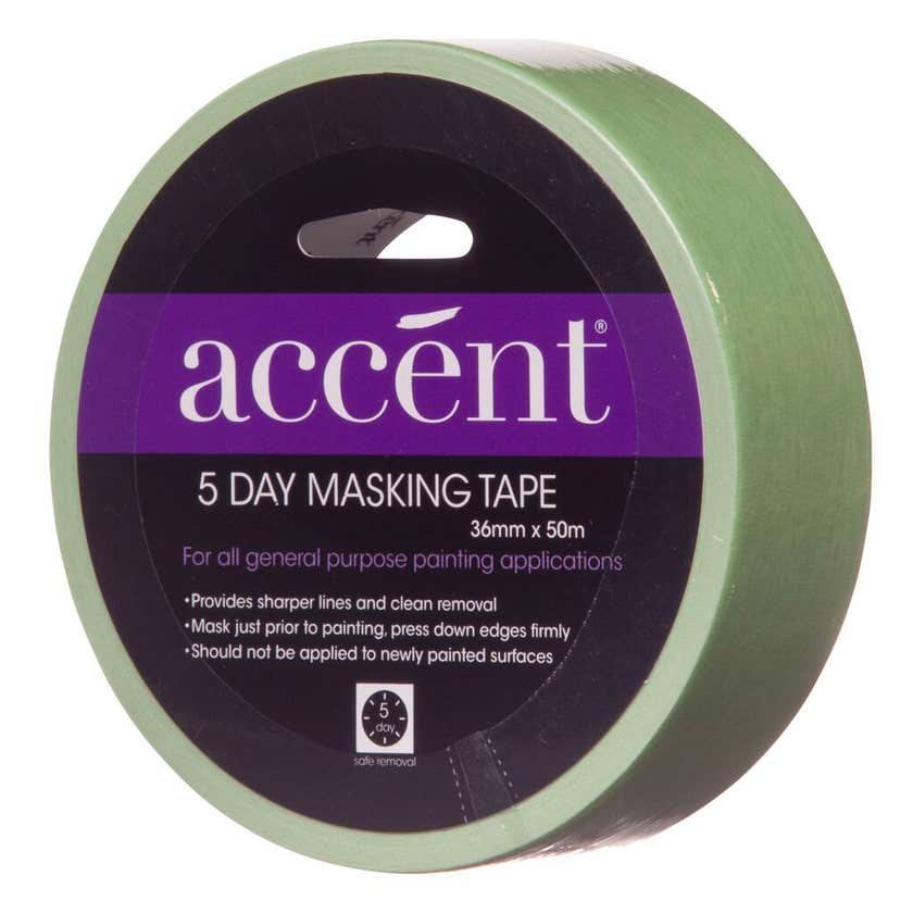 Accent® 5 Day Masking Tape 36mm x 50m