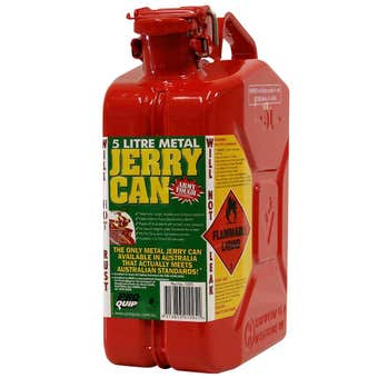 Pro Quip Metal Unleaded Jerry Can Red 5L