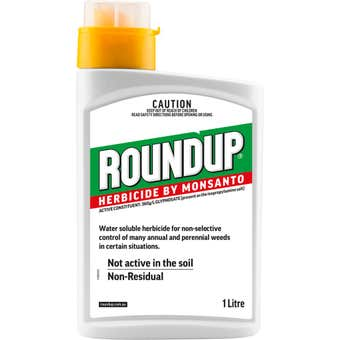 Roundup Herbicide Concentrate White 1L