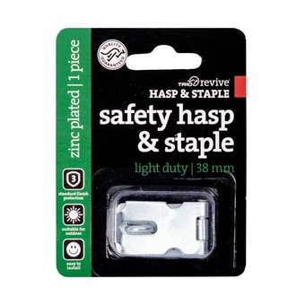 Trio Light Duty Safety Hasp & Staple 38mm