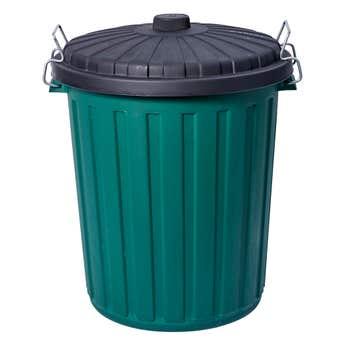 Decor Garbage Bin With Lid Green 46L