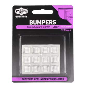 Cold Steel Bumpers Square Clear 13 x 3mm - 12 Pack