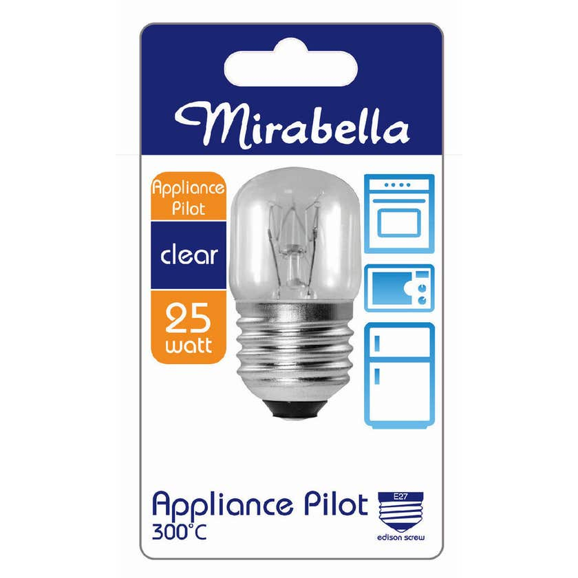 Mirabella Appliance Pilot Globe Clear 25W ES