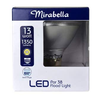 Mirabella LED PAR 38 Flood Light 13W ES Warm White