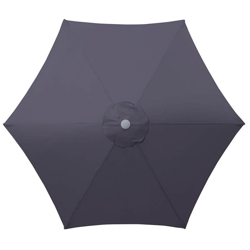 Steel Market Umbrella Charcoal 2.5m