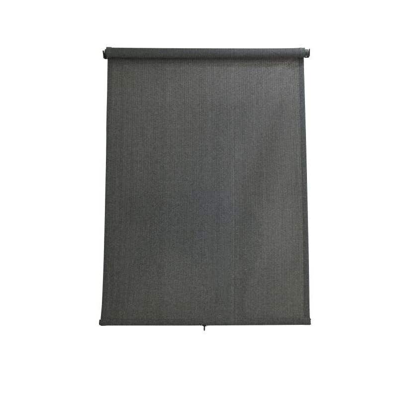 Coolaroo Retractable Blind Charcoal 2.4 x 2.1m
