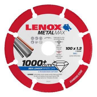 Lenox MetalMax Cut Off Diamond Blade 100 x 1.3mm