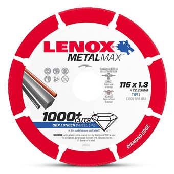 Lenox MetalMax Cut Off Diamond Wheel 115 x 1.3mm