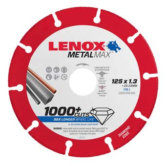 Lenox MetalMax Cut Off Diamond Blade 125 x 1.3mm