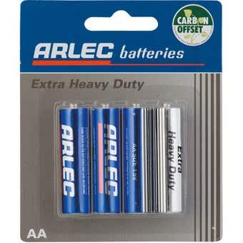 Arlec Extra Heavy Duty Battery - 4 x AA