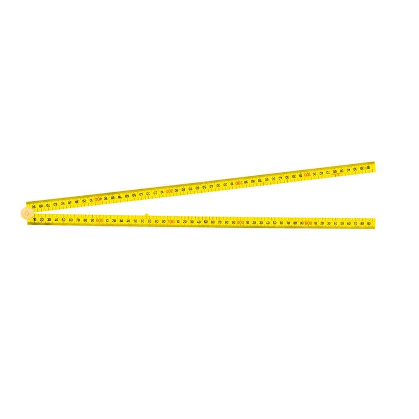 Crescent Lufkin Folding Ruler 4 Fold Square Edge 1m Yellow