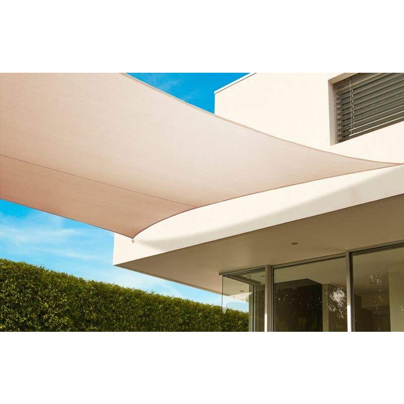 Coolaroo Everyday Square Shade Sail in Beech 3.6m