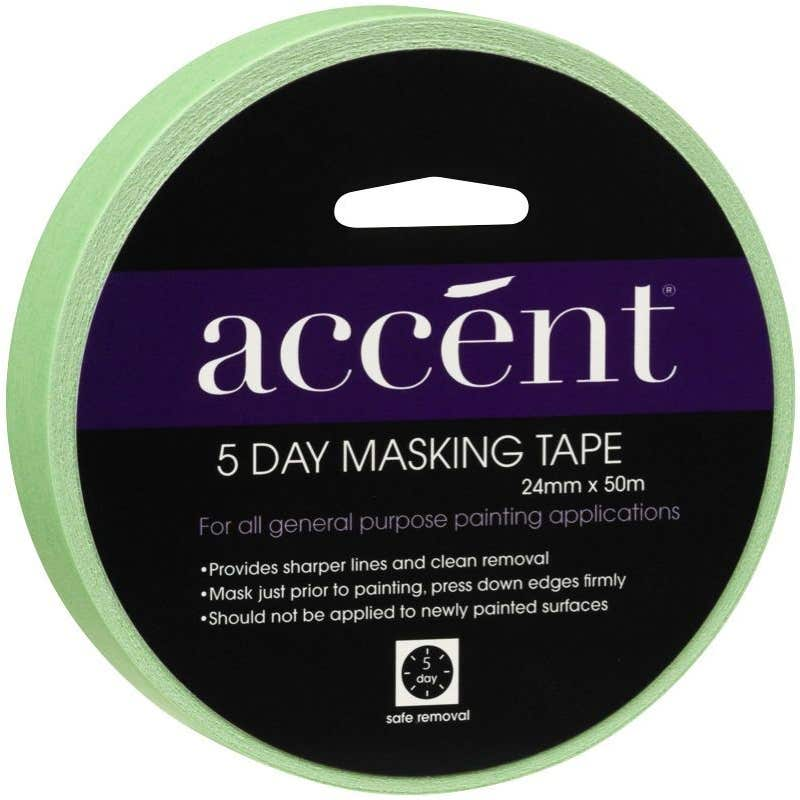 Accent® 5 Day Masking Tape 24mm x 50m