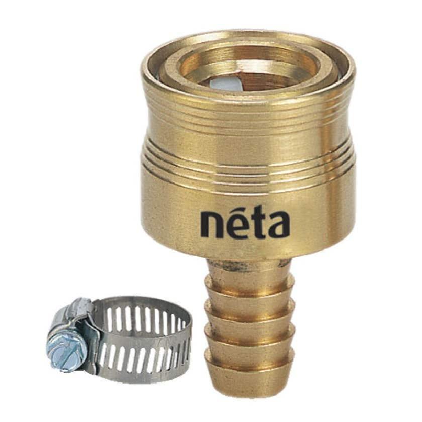 Neta Hose Connector Barb & Clamp 12mm