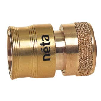 Neta Hose Connector With Stop EZ Brass 12mm