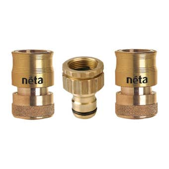 Neta EZ Universal Brass Hose Fitting Set 12mm