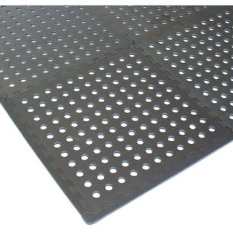 Polytuf Interlocking Foam Tiles with Holes - 4 Pack