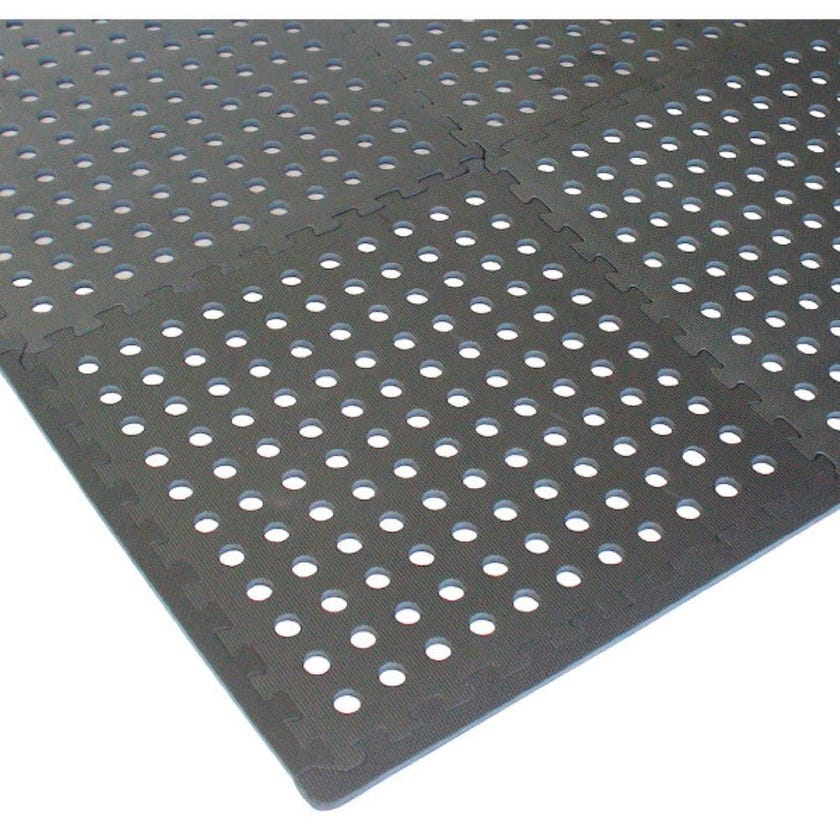 Polytuf Interlocking Foam Tiles with Holes - 4 Pack