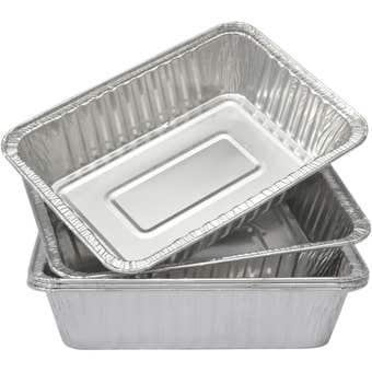 Grillman Aluminum BBQ Tray Small - 5 Pack
