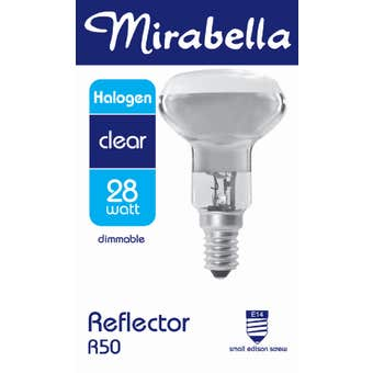 Mirabella Halogen Reflector Globe R50 28W SES Clear