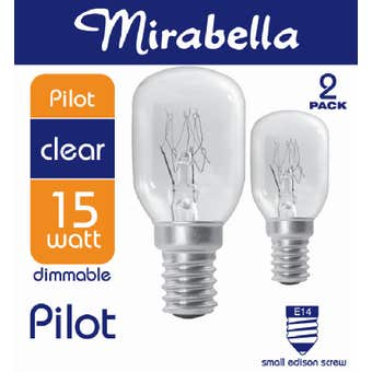 Mirabella Pilot Dimmable Globe 15W SES Clear - 2 Pack